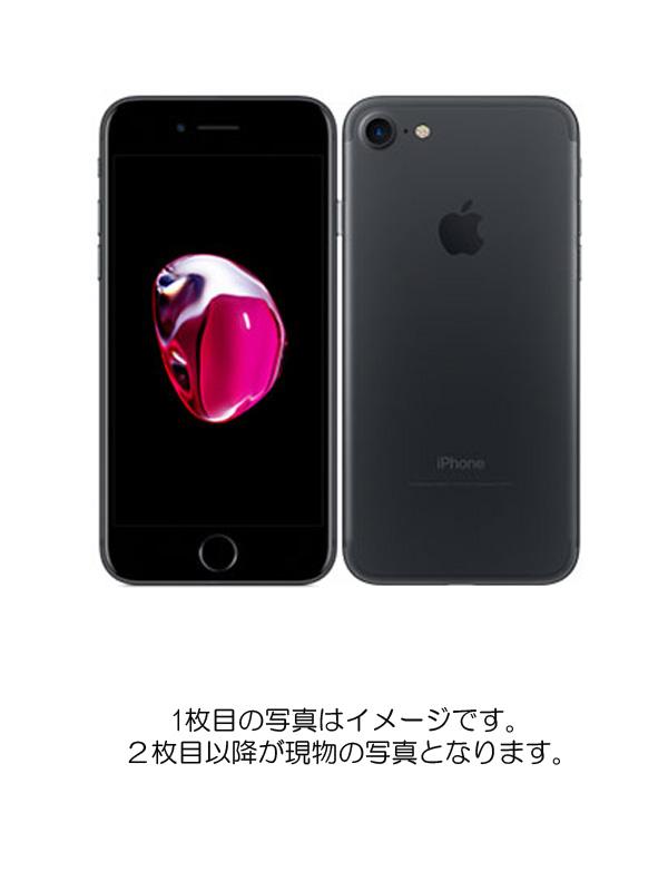 【Apple】【auのみ】【SIMロック解除済】アップル『iPhone 7 128GB au ブラック』MNCK2J/A スマートフォン 1週間保証【中古】b02e/h19AB