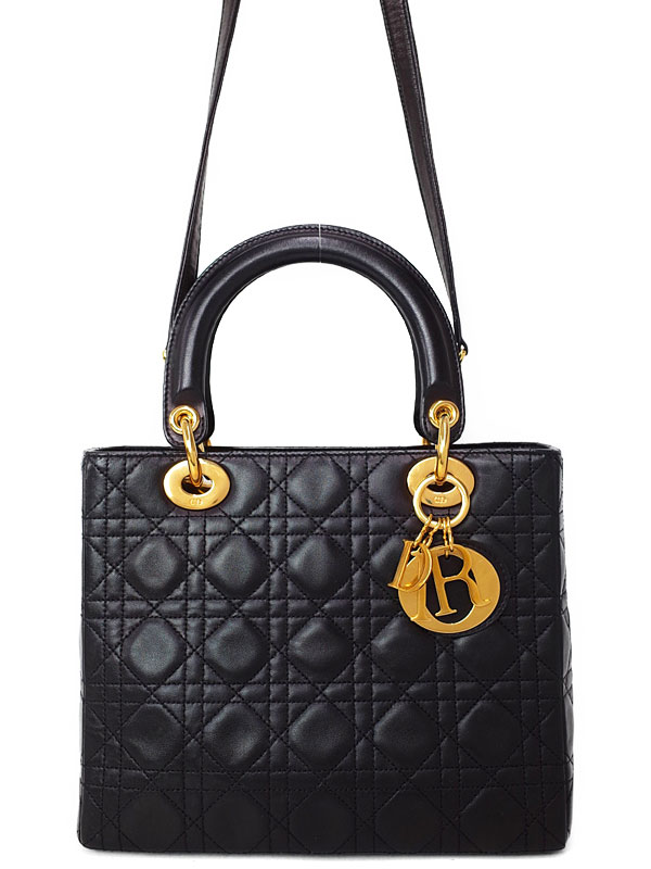【Christian Dior】クリスチャンディオール『レディディオール(M)』レディース 2WAYバッグ 1週間保証【中古】b03b/h20AB