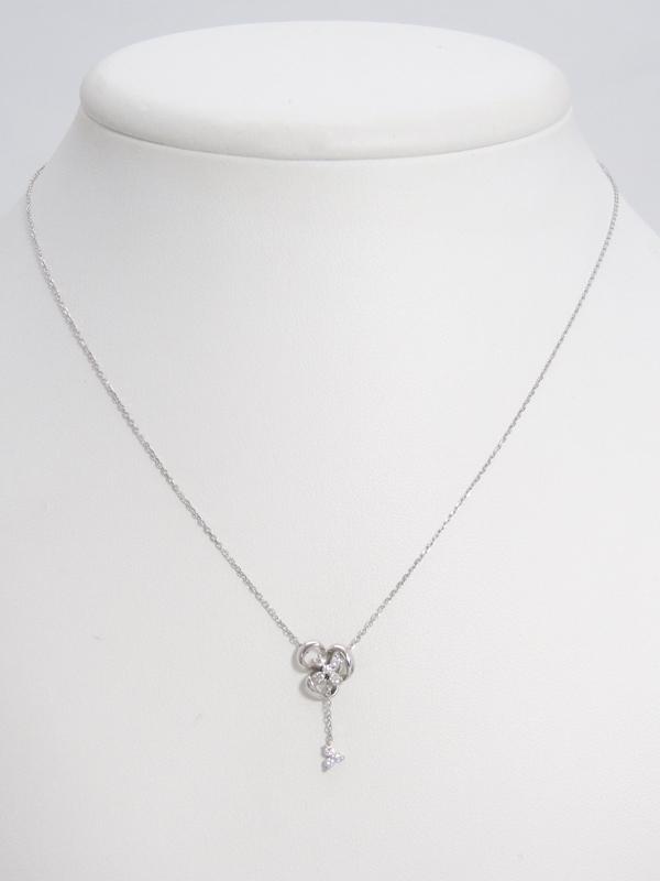 Vendome Aoyama ヴァンドーム青山 PT950 PT850ネックレス ダイヤモンド0 10ct フラワーモチーフ 1週間保証b06j h18AdoreCxBW