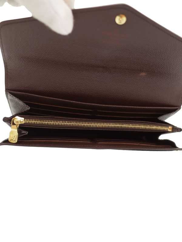 the best attitude b1d45 6ee9f LOUIS VUITTON】ルイヴィトン『ダミエ 中古 ポルトフォイユ サラ ...