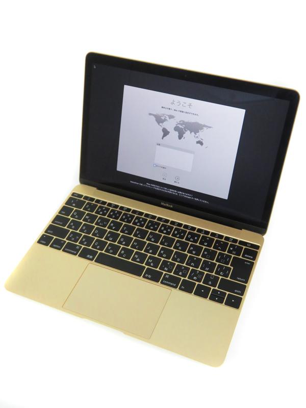【Apple】アップル『MacBook 1100/12 ゴールド』MK4M2JA/A ノートパソコン 1週間保証【中古】b03e/h20AB