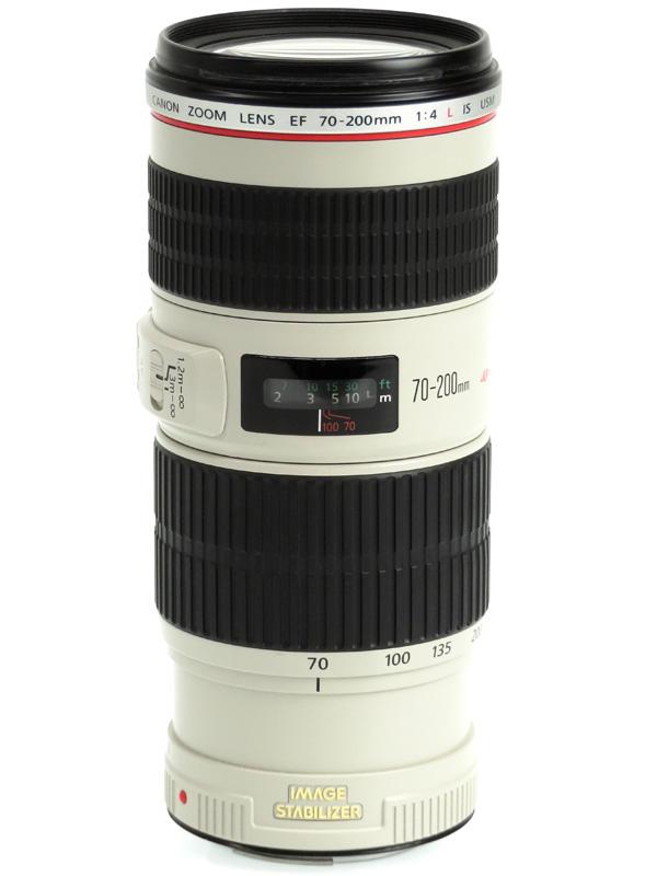 【Canon】キヤノン『EF70-200mm F4L IS USM』EF70-20040LIS 望遠ズーム 手ブレ補正 一眼レフカメラ用レンズ 1週間保証【中古】b03e/h08AB