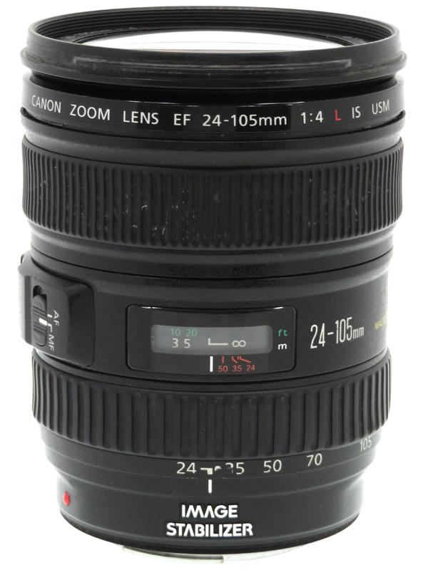 【Canon】キヤノン『EF24-105mm F4L IS USM』EF24-10540LIS 非球面 標準ズーム 一眼レフカメラ用レンズ 1週間保証【中古】b03e/h12B