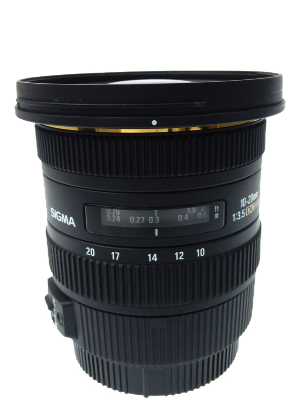 【SIGMA】シグマ『10-20mm F4-5.6 EX DC HSM』キヤノンEF-S 16-32mm相当 デジタル一眼レフカメラ用レンズ 1週間保証【中古】b03e/h12AB
