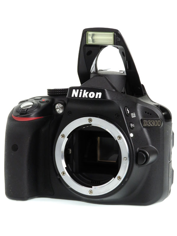 【Nikon】ニコン『D3300ボディ』ブラック 2416万画素 DXフォーマット SDXC フルHD動画 デジタル一眼レフカメラ 1週間保証【中古】b03e/h11AB