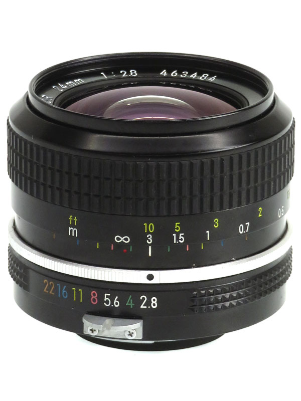 【Nikon】ニコン『Nikkor 24mm f/2.8』非Ai 広角 一眼レフカメラ用レンズ 1週間保証【中古】b03e/h11B