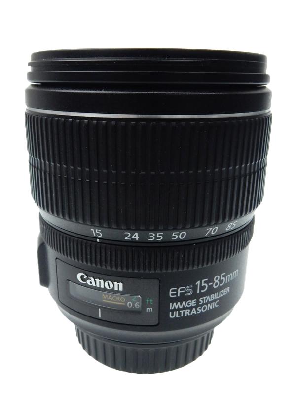 【Canon】キヤノン『EF-S15-85mm F3.5-5.6 IS USM』EF-S15-85IS 24-136mm相当 デジタル一眼レフカメラ用レンズ 1週間保証【中古】b03e/h20AB