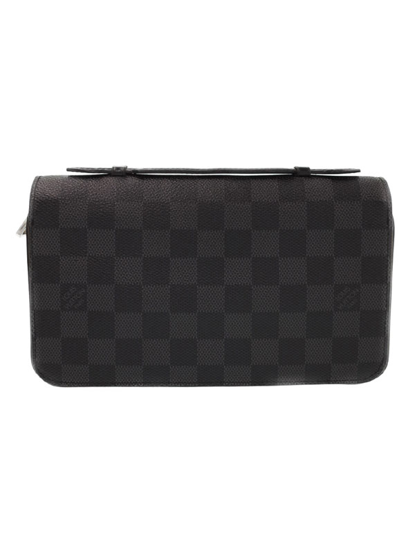 【LOUIS VUITTON】ルイヴィトン『ダミエ グラフィット ジッピーXL』N41503 メンズ ラウンドファスナー長財布 1週間保証【中古】b06b/h18BC