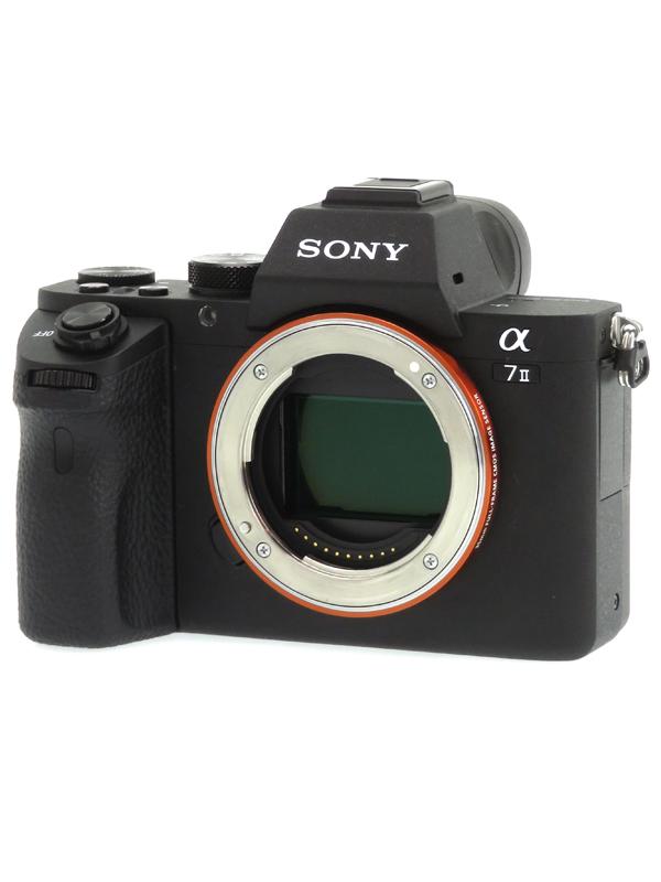 【SONY】ソニー『α7IIボディ』ILCE-7M2 2430万画素 フルサイズ Eマウント フルHD動画 ミラーレス一眼カメラ 1週間保証【中古】b03e/h12AB