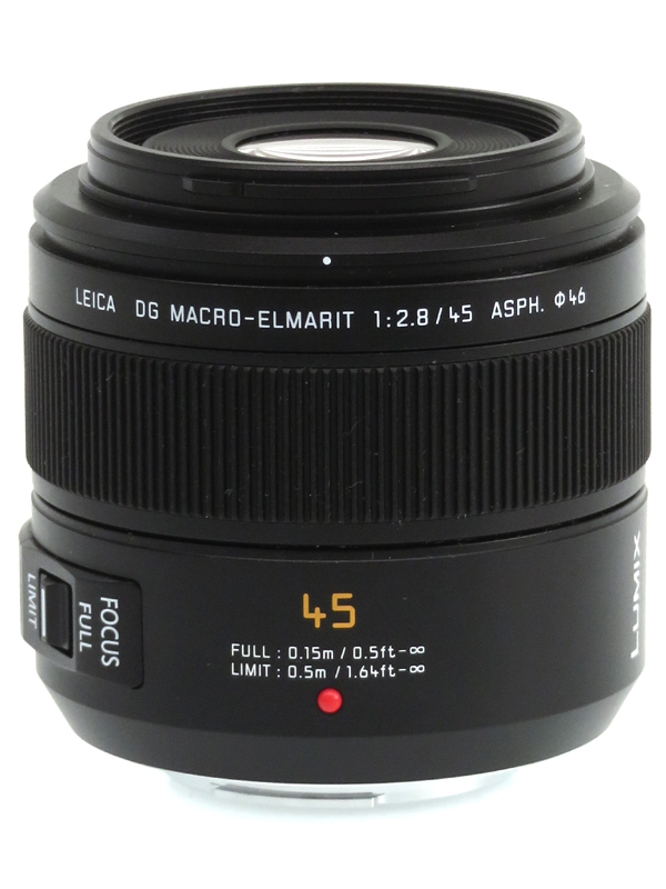 【Panasonic】パナソニック『LEICA DG MACRO-ELMARIT 45mm F2.8 ASPH. MEGA O.I.S.』H-ES045 90mm相当 ミラーレス一眼カメラ用レンズ 1週間保証【中古】b03e/h20AB