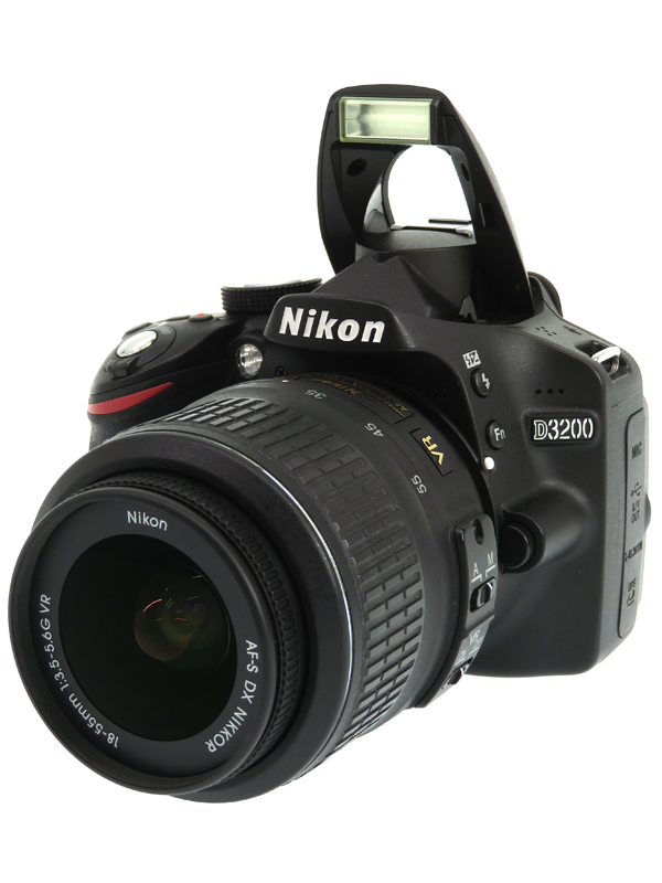 【Nikon】ニコン『D3200 18-55 VR レンズキット』ブラック 2416万画素 SDXC フルHD動画 デジタル一眼レフカメラ 1週間保証【中古】b03e/h14AB
