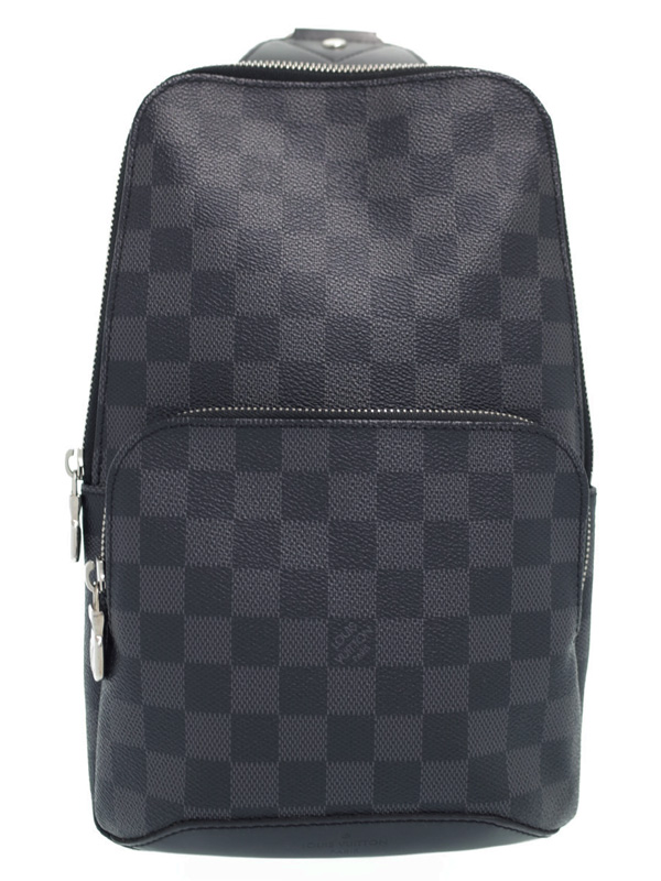 【LOUIS VUITTON】ルイヴィトン『ダミエ グラフィット アヴェニュー スリングバッグ』N41719 メンズ ボディバッグ 1週間保証【中古】b02b/h19A
