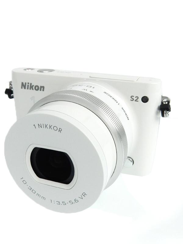 【Nikon】ニコン『Nikon1 S2 標準パワーズームレンズキット ホワイト』N1S2PLKWH 1418万画素 3インチ デジタルカメラ 1週間保証【中古】b03e/h20AB