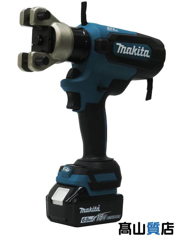 1週間保証【新品】 圧着器 ケース付 18V 充電器 6.0Ah×1 【makita】マキタ『充電式圧着機』TC300DRG