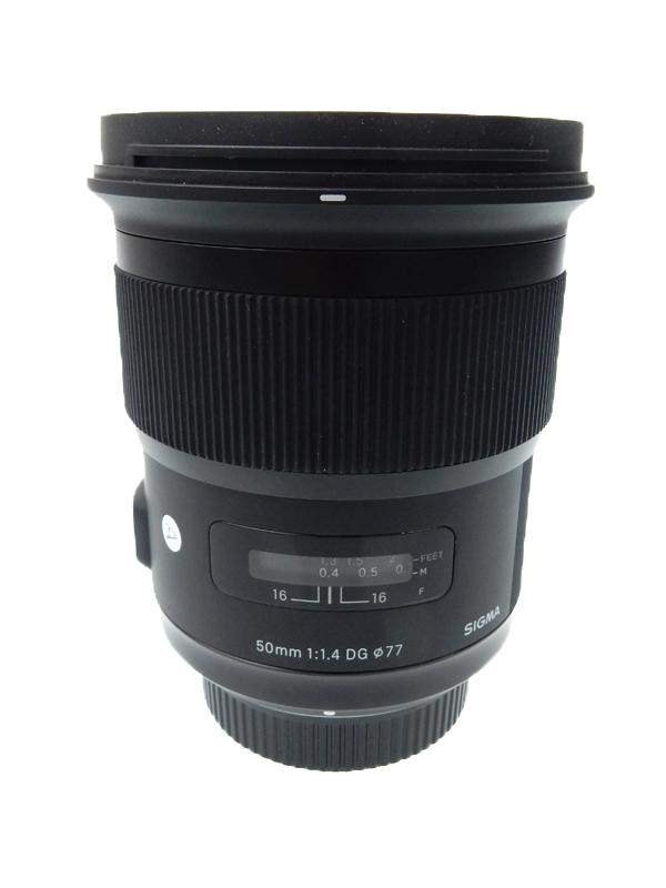【SIGMA】シグマ『ART 50mm F1.4 DG HSM』ニコンマウント 大口径標準レンズ カメラ用交換レンズ 1週間保証【中古】b03e/h12AB