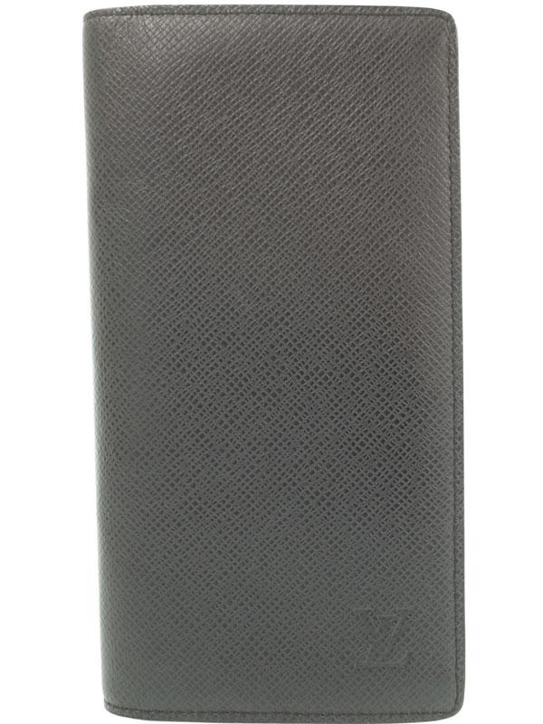 【LOUIS VUITTON】ルイヴィトン『タイガ ポルトフォイユ ブラザ』M32572 メンズ 二つ折り長財布 1週間保証【中古】b05b/h10AB