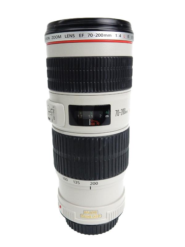 【Canon】キヤノン『EF70-200mm F4L IS USM』EF70-20040LIS フルサイズ対応 防塵・防滴構造 手ブレ補正機構 レンズ 1週間保証【中古】b06e/h16AB