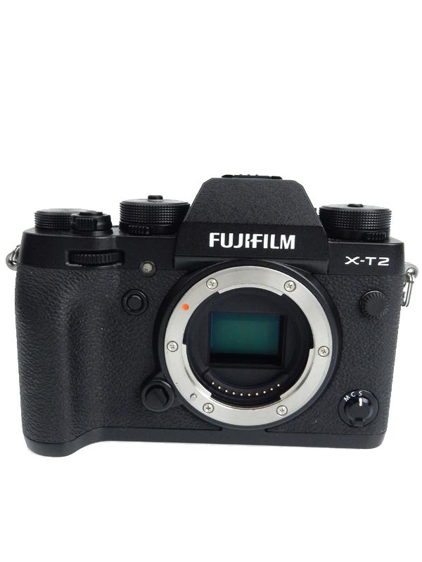 【FUJIFILM】富士フイルム『X-T2』F X-T2-B ブラック ボディ 2430万画素 APS-C SDXC 4K動画 ミラーレス一眼カメラ 1週間保証【中古】b06e/h17A