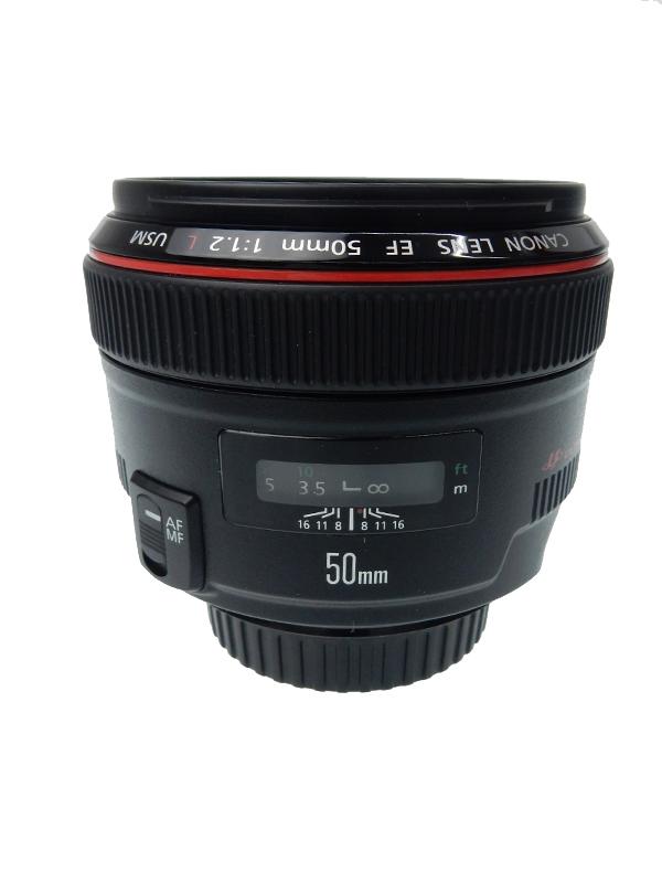 【Canon】キヤノン『EF50mm F1.2L USM』EF5012LU 標準 単焦点 フルタイムマニュアル 一眼レフカメラ用レンズ 1週間保証【中古】b06e/h18AB