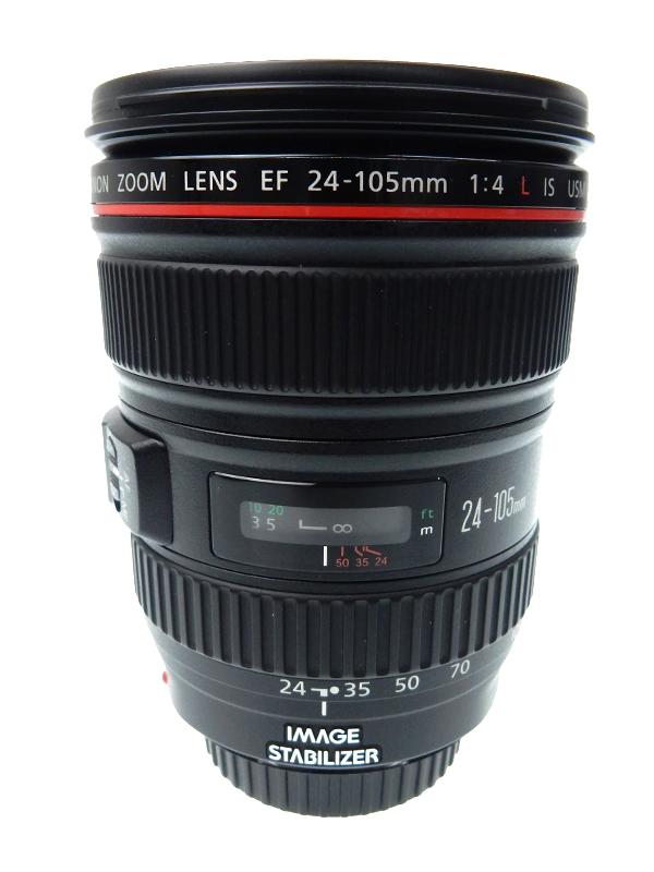【Canon】キヤノン『EF24-105mm F4L IS USM』EF24-10540LIS 非球面 標準ズーム 一眼レフカメラ用レンズ 1週間保証【中古】b06e/h18AB