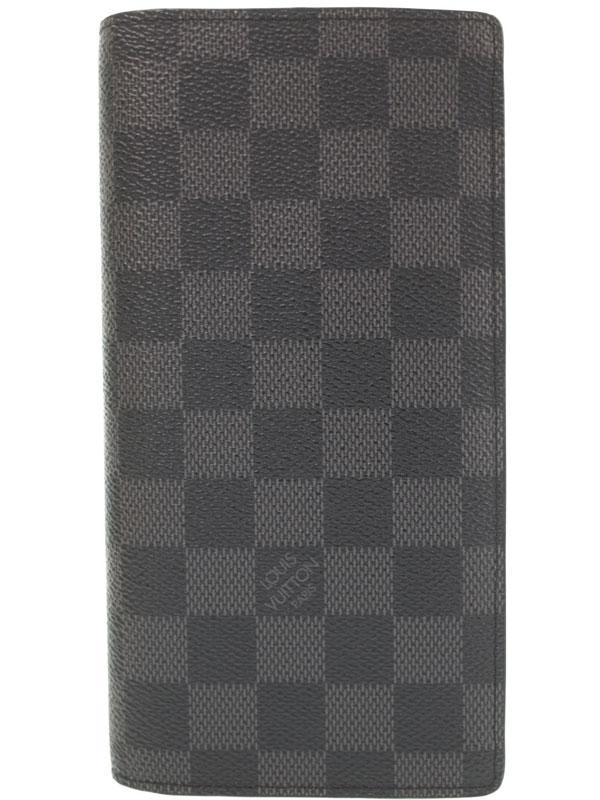 【LOUIS VUITTON】ルイヴィトン『ダミエ グラフィット ポルトフォイユ ブラザ』N62665 メンズ 二つ折り長財布 1週間保証【中古】b03b/h09A