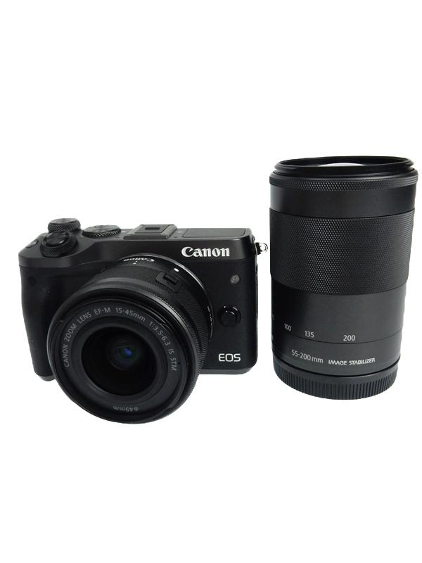 割引購入 【Canon 2420万画素 M6】キヤノン『EOS M6 Wi-Fi ダブルズームキット』EOSM6BK-WZOOMKIT Wi-Fi 2420万画素 3型 ミラーレス一眼カメラ 1週間保証【】b05e/h03AB, Candy:9e41d1d5 --- cpps.dyndns.info