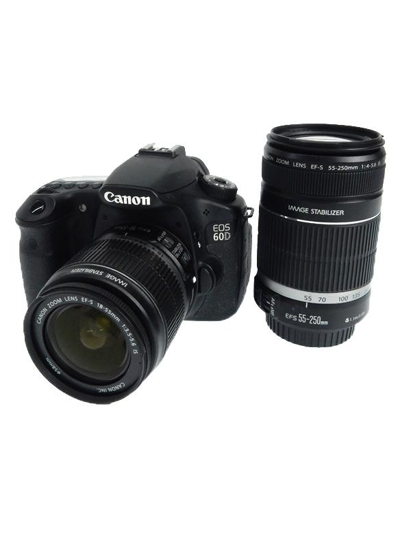【Canon】キヤノン『EOS 60Dダブルズームキット』EOS60D-WKIT 1800万画素 バリアングル デジタル一眼レフカメラ 1週間保証【中古】b05e/h21AB