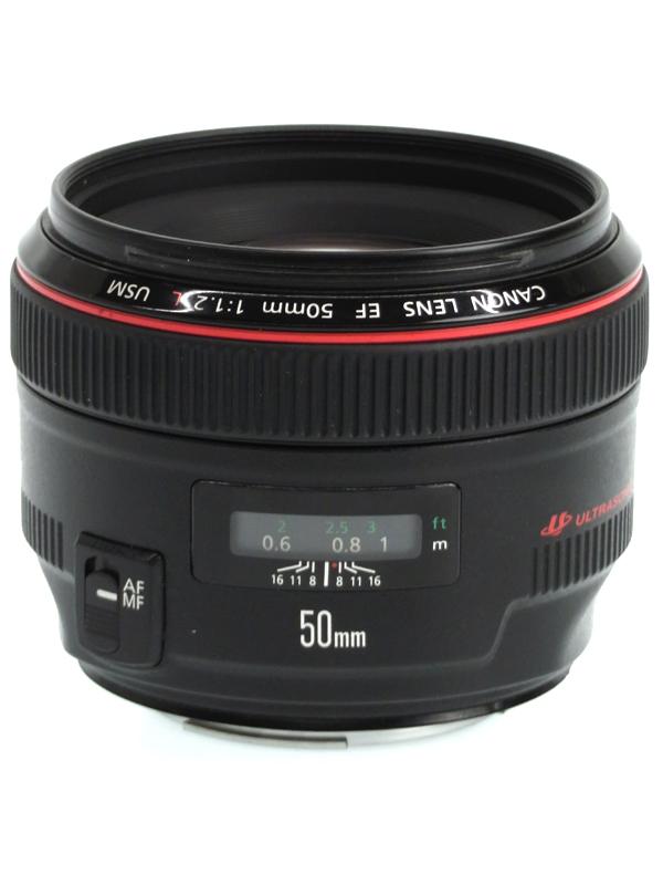 【Canon】キヤノン『EF50mm F1.2L USM』EF5012LU 標準 単焦点 フルタイムマニュアル 一眼レフカメラ用レンズ 1週間保証【中古】b03e/h11AB