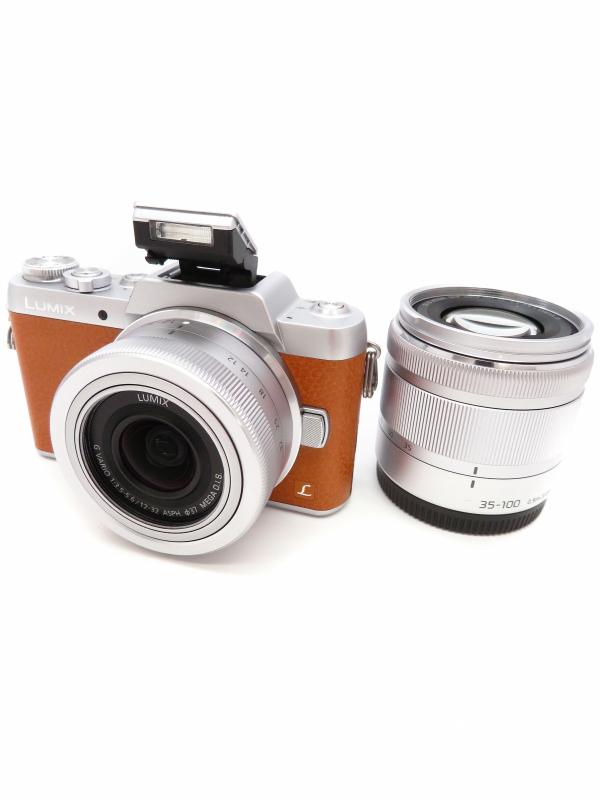 【Panasonic】パナソニック『LUMIX(ルミックス) DMC-GF7 ダブルズームレンズキット』DMC-GF7W-T デジタル一眼レフカメラ【中古】b03e/h08AB