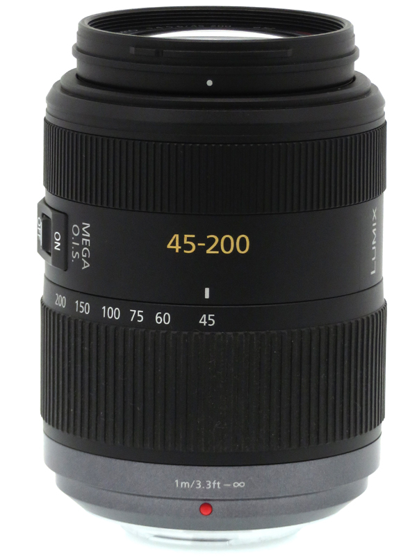 【Panasonic】パナソニック『LUMIX G VARIO 45-200mm/F4.0-5.6/MEGA O.I.S.』H-FS045200 90-400mm相当 ミラーレス一眼カメラ用レンズ 1週間保証【中古】b03e/h20AB