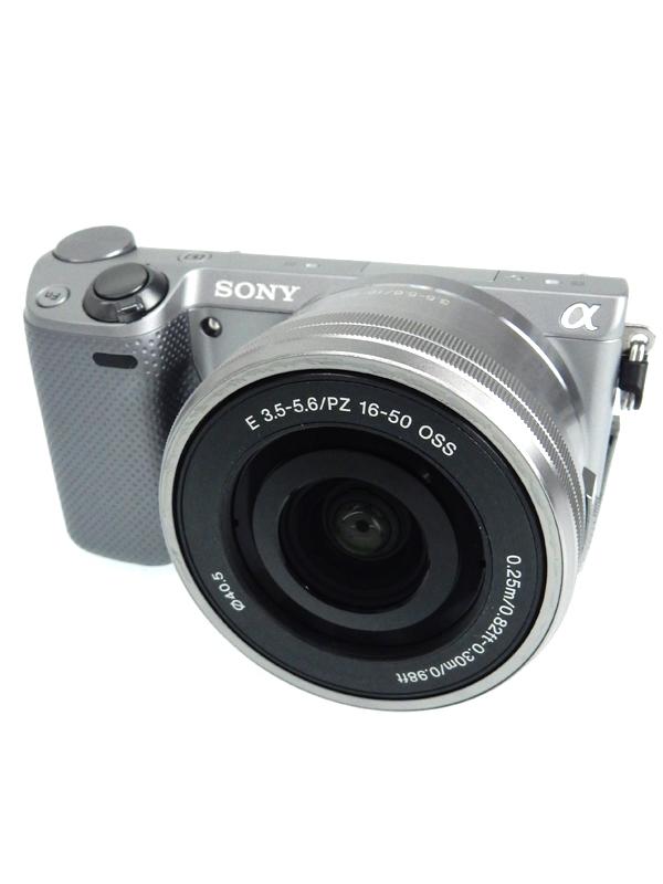 【SONY】ソニー『パワーズームレンズキット』NEX-5RL シルバー 1610万画素 3インチ Wi-Fi ミラーレス一眼カメラ 1週間保証【中古】b03e/h11AB