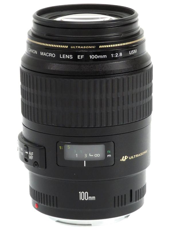 【Canon】キヤノン『EF100mm F2.8 マクロ USM』EF10028MU 等倍 一眼レフカメラ用レンズ 1週間保証【中古】b06e/h09AB