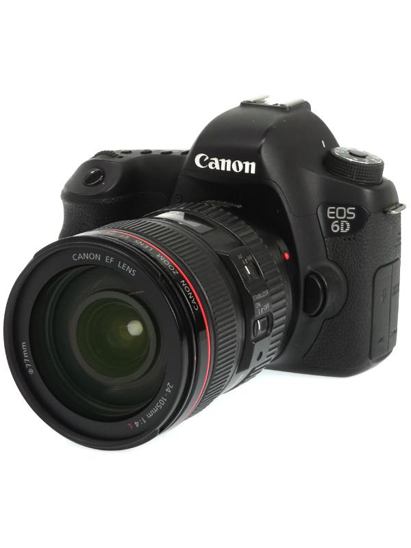 【Canon】キヤノン『EOS 6D EF24-105L IS USM レンズキット』2020万画素 SDXC Wi-Fi フルHD動画 デジタル一眼レフカメラ 1週間保証【中古】b03e/h11AB
