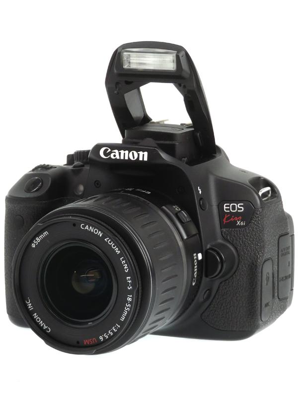【Canon】キヤノン『EOS Kiss X6i + EF-S18-55mm F3.5-5.6 USM』1800万画素 EF-S SDXC フルHD動画 デジタル一眼レフカメラ 1週間保証【中古】b03e/h20AB