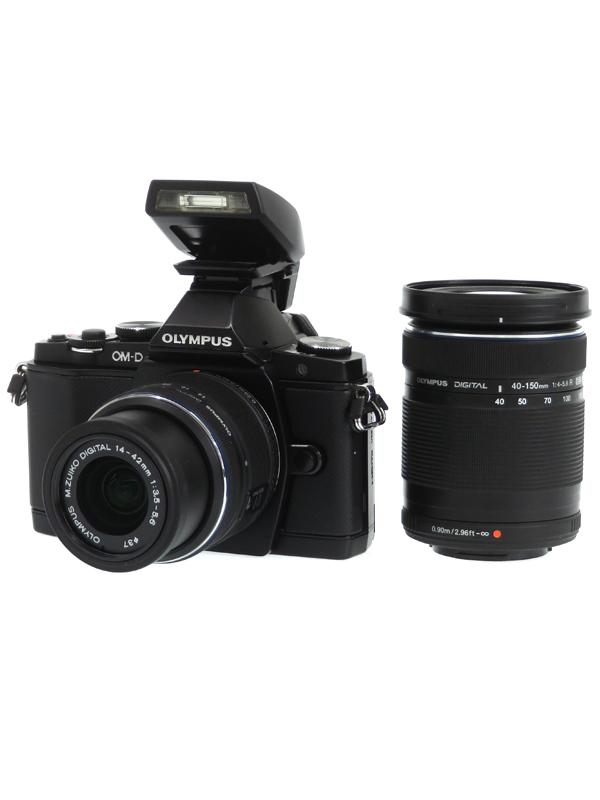 【OLYMPUS】オリンパス『OM-D E-M5ダブルズームキット』ブラック 1605万画素 SDXC フルHD動画 ミラーレス一眼カメラ 1週間保証【中古】b03e/h20AB