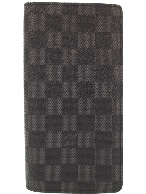 【LOUIS VUITTON】ルイヴィトン『ダミエ グラフィット ポルトフォイユ ブラザ』N62665 メンズ 二つ折り長財布 1週間保証【中古】b01b/h02A