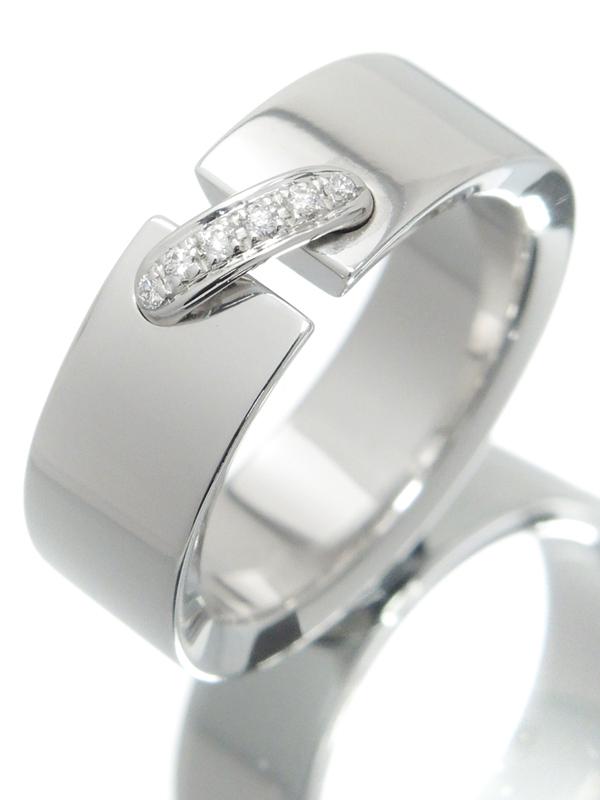 【CHAUMET】【Liens】【仕上済】ショーメ『K18WG リアン リング 6Pダイヤモンド』11.5号 1週間保証【中古】b06j/h17SA