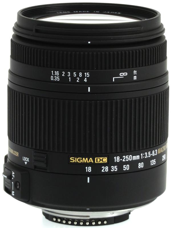 【SIGMA】シグマ『18-250mm F3.5-6.3 DC MACRO OS HSM』ニコンDXフォーマット 27-375mm相当 デジタル一眼レフカメラ用レンズ 1週間保証【中古】b03e/h08AB