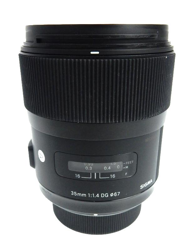 【SIGMA】シグマ『35mm F1.4 DG HSM』ニコンFマウント Artライン デジタル一眼レフカメラ用レンズ 1週間保証【中古】b05e/h22AB
