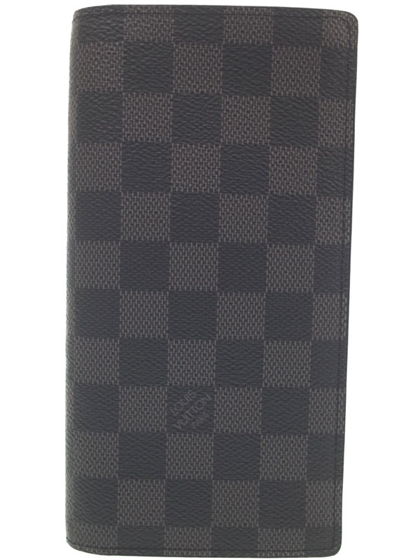 【LOUIS VUITTON】ルイヴィトン『ダミエ グラフィット ポルトフォイユ ブラザ』N62665 メンズ 二つ折り長財布 1週間保証【中古】b03b/h12A