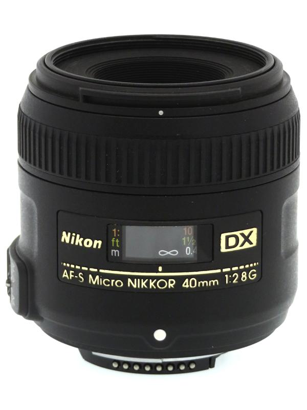 【Nikon】ニコン『AF-S DX Micro NIKKOR 40mm f/2.8G』60mm相当 デジタル一眼レフカメラ用レンズ 1週間保証【中古】b03e/h21AB