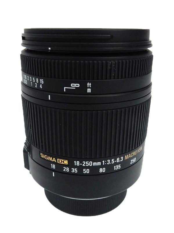 【SIGMA】シグマ『18-250mm F3.5-6.3 DC MACRO OS HSM』ニコンDXフォーマット 27-375mm相当 デジタル一眼レフカメラ用レンズ 1週間保証【中古】b03e/h04AB