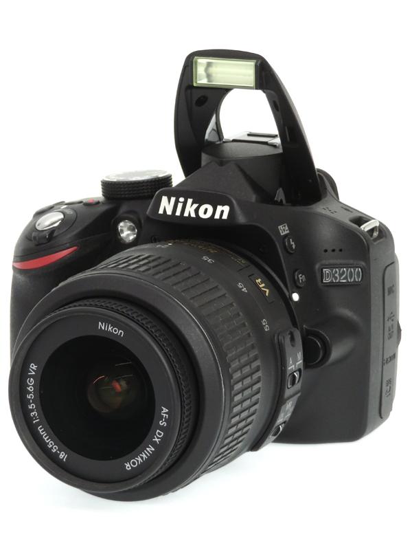 【Nikon】ニコン『D3200 18-55 VR レンズキット』ブラック 2416万画素 SDXC フルHD動画 デジタル一眼レフカメラ 1週間保証【中古】b03e/h04AB