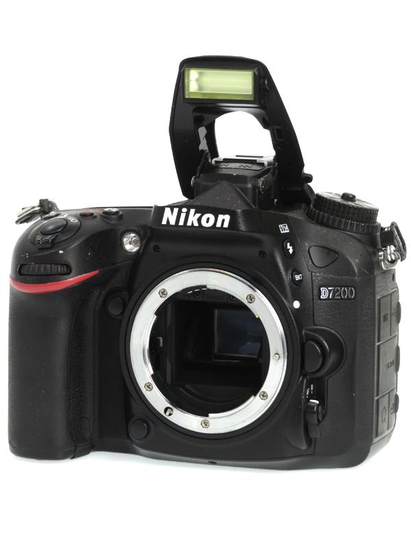 【Nikon】ニコン『D7200 ボディ』2416万画素 DXフォーマット Wi-Fi SDXC フルHD動画 デジタル一眼レフカメラ 1週間保証【中古】b03e/h09B