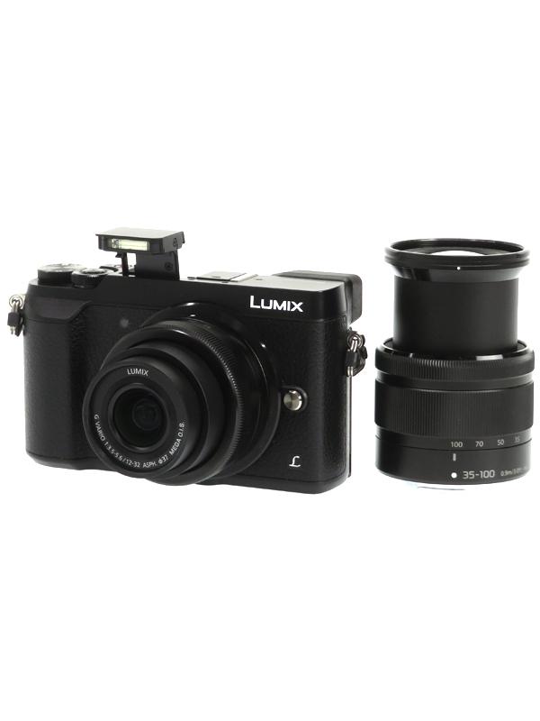 【Panasonic】パナソニック『LUMIX(ルミックス)GX7 Mark II スペシャルキット』DMC-GX7MK2WK-K ブラック 1600万画素 4K ミラーレス一眼カメラ 1週間保証【中古】b06e/h19AB