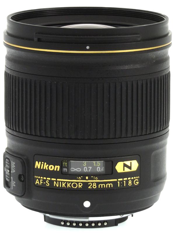 【Nikon】ニコン『AF-S NIKKOR 28mm f/1.8G』FXフォーマット 広角 単焦点 デジタル一眼レフカメラ用レンズ 1週間保証【中古】b03e/h20AB