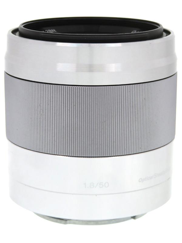 【SONY】ソニー『E 50mm F1.8 OSS』SEL50F18(S) シルバー 75mm相当 Eマウント デジタル一眼カメラ用レンズ 1週間保証【中古】b03e/h20AB