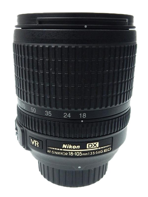 【Nikon】ニコン『AF-S DX NIKKOR 18-105mm f/3.5-5.6G ED VR』27mm-157.5mm相当 デジタル一眼レフカメラ用レンズ 1週間保証【中古】b03e/h12AB