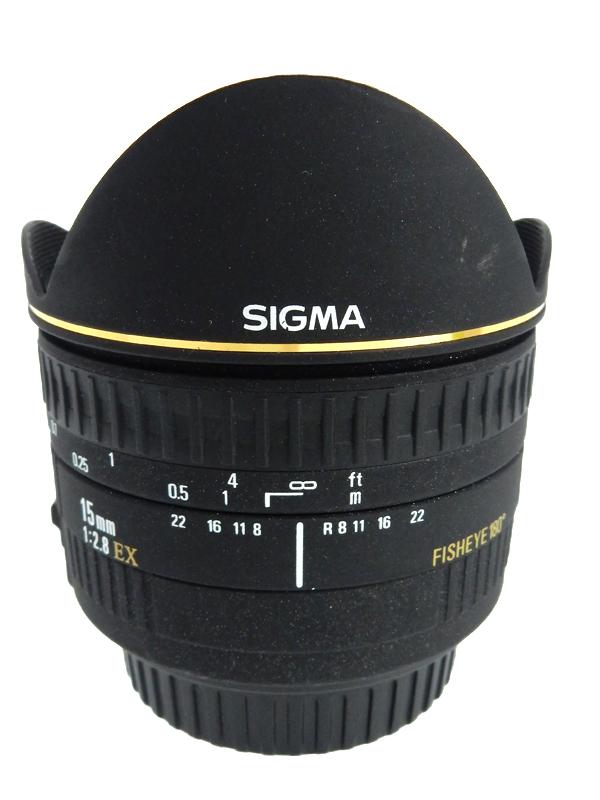 【SIGMA】【キヤノンEFマウント】ニコン『15mm F2.8 EX FISHEYE』レンズ 1週間保証【中古】b03e/h20B