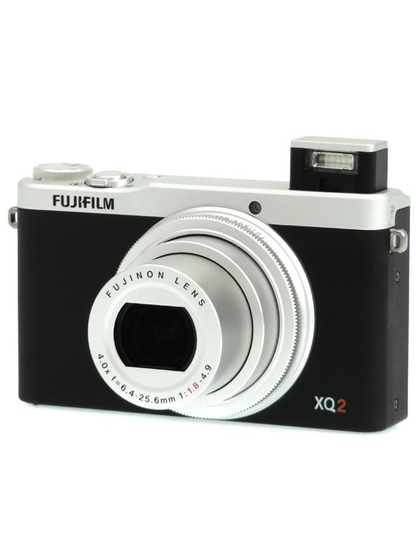 【FUJIFILM】富士フイルム『FUJIFILM XQ2』F FX-XQ2S シルバー 1200万画素 光学4倍 SDXC フルHD動画 コンパクトデジタルカメラ 1週間保証【中古】b03e/h14AB